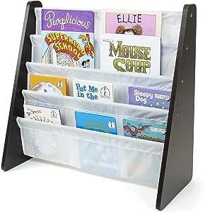 Humble Crew Kids Book Rack Storage Bookshelf Collection, Espresso/White