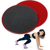 Ruge Discos de Deslizamiento Fitness Sliders para Entrenamiento de Abdominales, Ejercicio en Gimnasio y casa (2 Piezas)