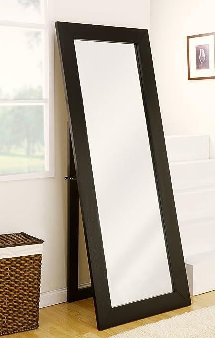 Amazon.com: ioHOMES Cosmo Beveled Floor Standing Mirror, Black ...