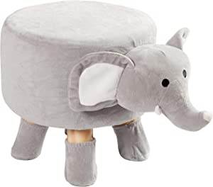Cheer Collection Kids Mini Stool - Small Padded Footrest for Children and Nursery Decor (Elephant)