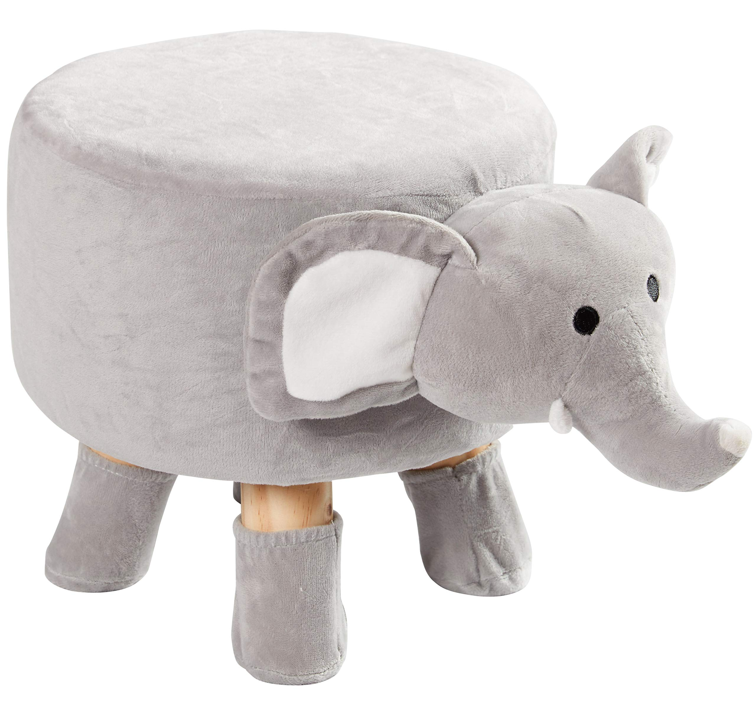 Cheer Collection Kids Mini Stool - Small Padded Footrest for Children and Nursery Decor (Elephant) by Cheer Collection