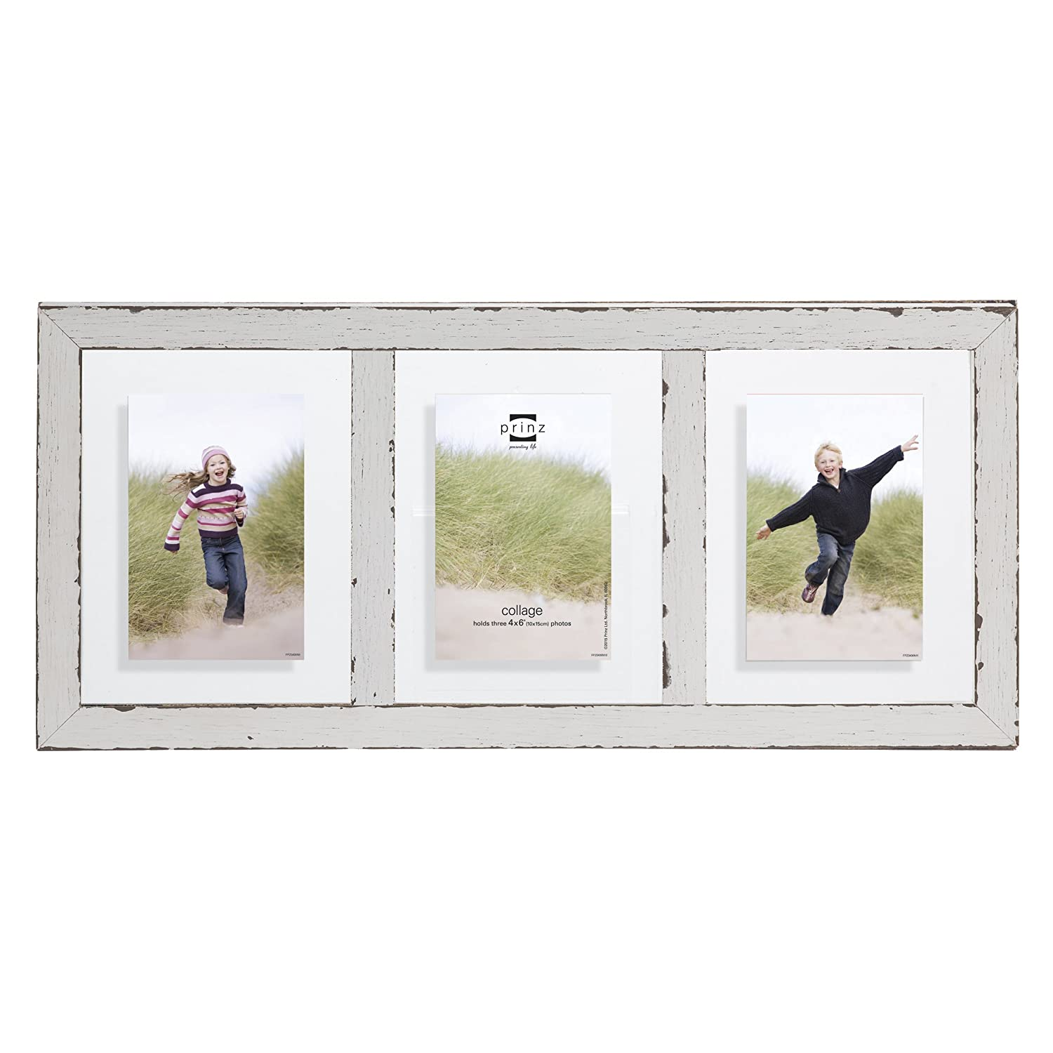 Amazon prinz 3 opening bristol distressed wood float frame 4 amazon prinz 3 opening bristol distressed wood float frame 4 by 6 inch white home kitchen jeuxipadfo Gallery
