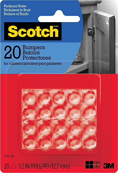 "Scotch Bumpers, 20 Bumpers/Pack, Clear, 1/2"", (SP950-NA)"