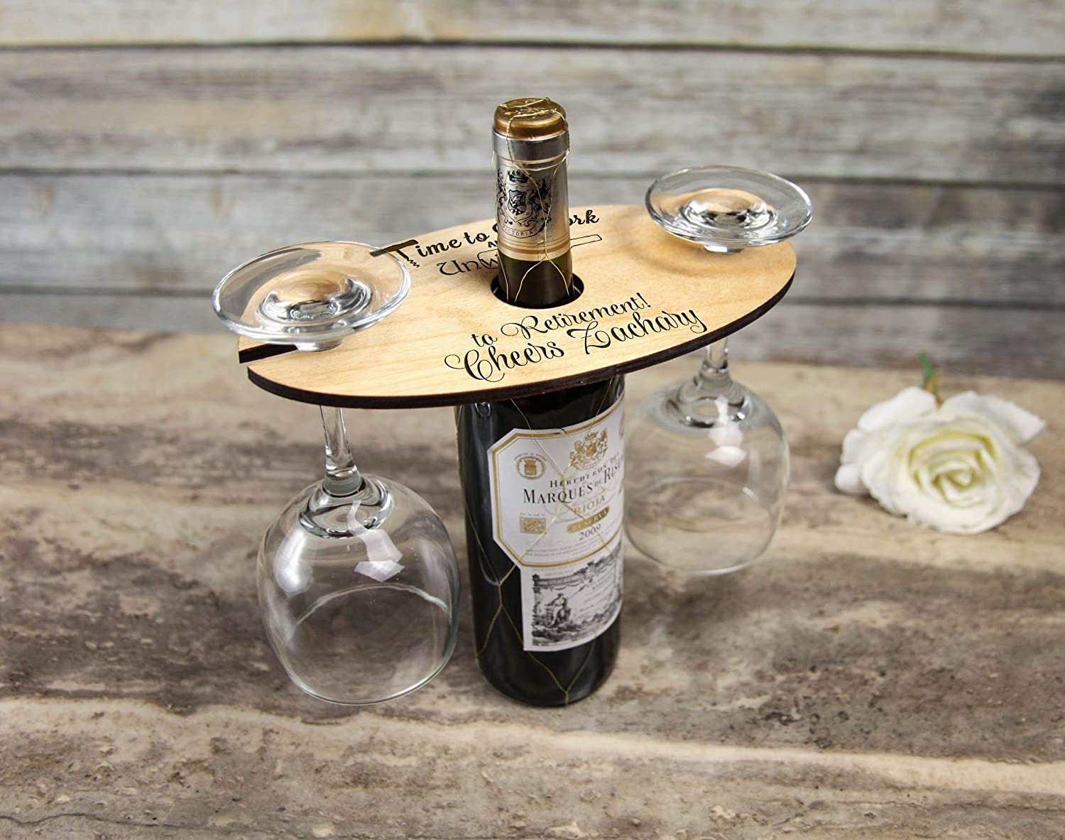 Personalized Wine Caddy Happy Retirement