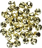 Darice 48-Piece Gold Bells, 1/2-Inch