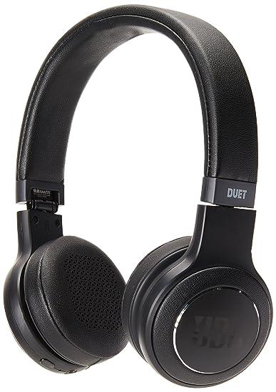 ee109f044ec Amazon.com  JBL Duet Bluetooth Wireless On-Ear Headphones - Black  Cell  Phones   Accessories