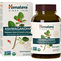 Himalaya Ashwagandha (Ginseng indiano) certificato dall USDA | Integratori naturali che combattono lo stress e aiutano ad aumentare l'energia, 60 capsule da 4.630 mg (Ashwagandha (US - OLD PACK))