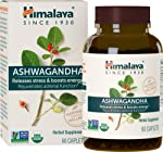 Himalaya Organic Ashwagandha, Adaptogen for Stress-relief, Cortisol level support and Energy Boost, 60 Caplets, 2 Month...