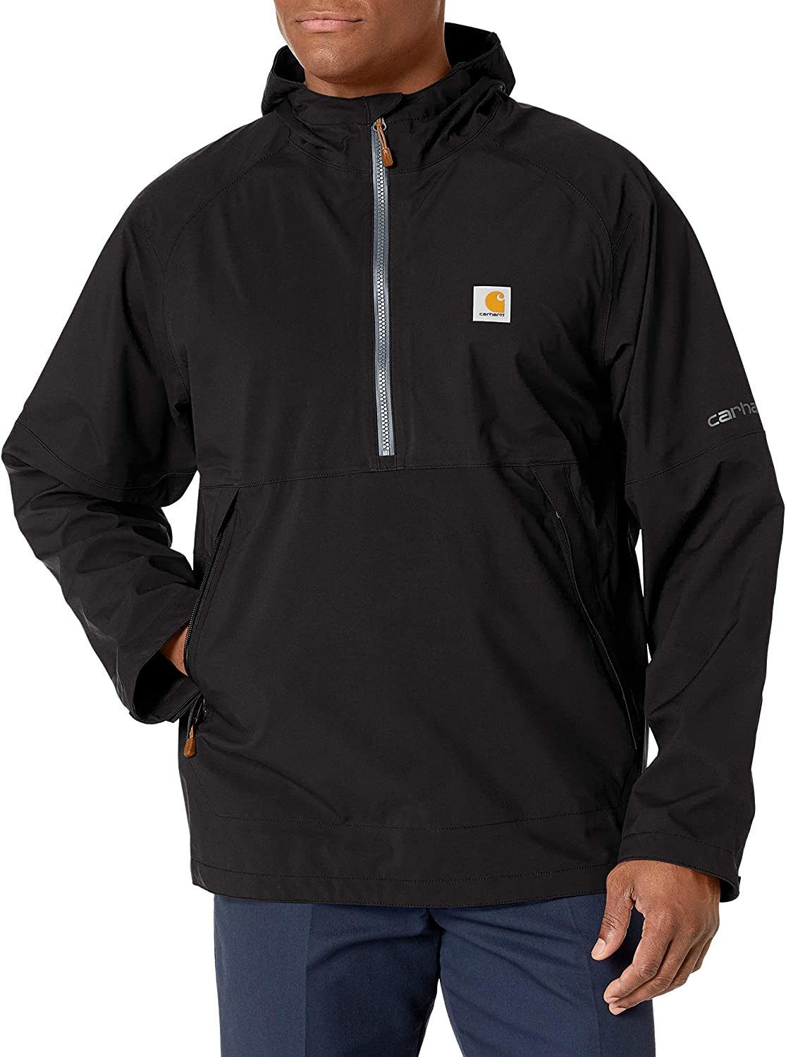 Carhartt Mens Storm Defender Force Midweight Hooded Anorak Jacket Work Utility Outerwear