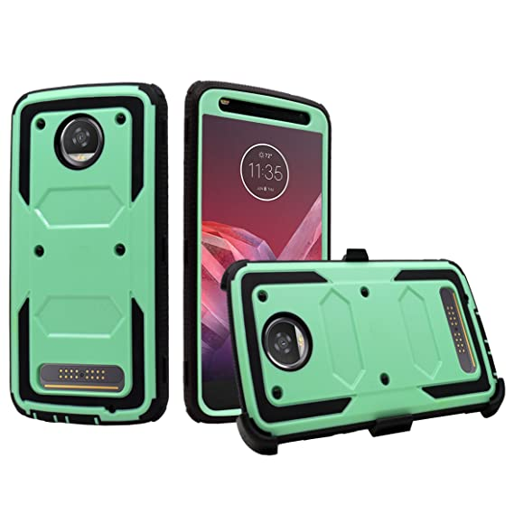 huge discount c4889 89f5a Amazon.com: Moto Z2 Force Case, Moto Z2 Play Case [Built In Screen ...
