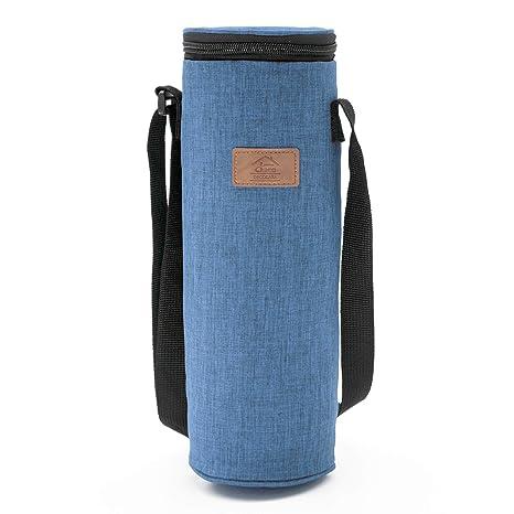 Decocasa Bolsa Térmica Porta Bebidas, Enfriador de Botellas de Vino Agua Cava, 2 litros, Azul, 2L
