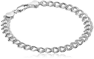 Sterling Silver Double-Link Chain Bracelet
