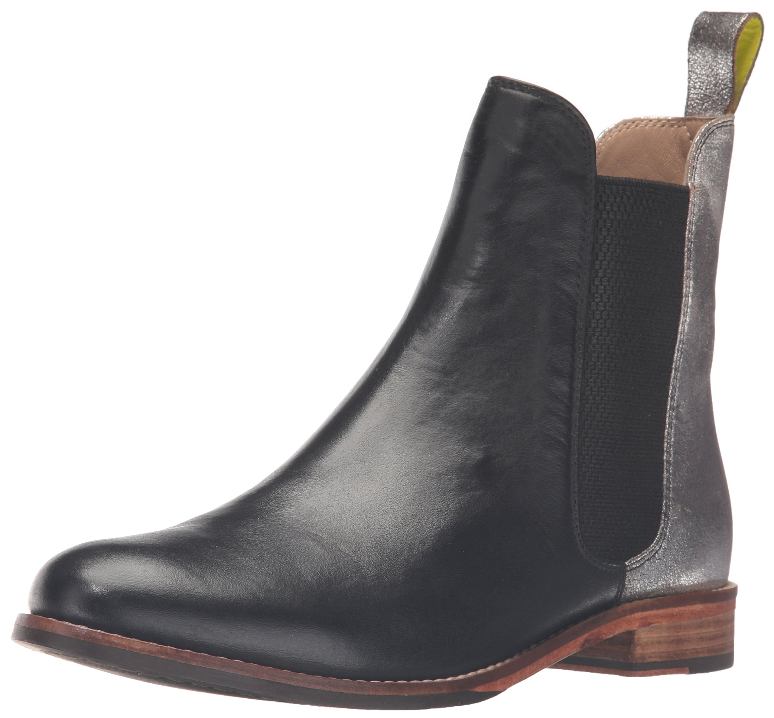 Joules Women's Westbourne Leather Chelsea Boots, Silver, 8 M US