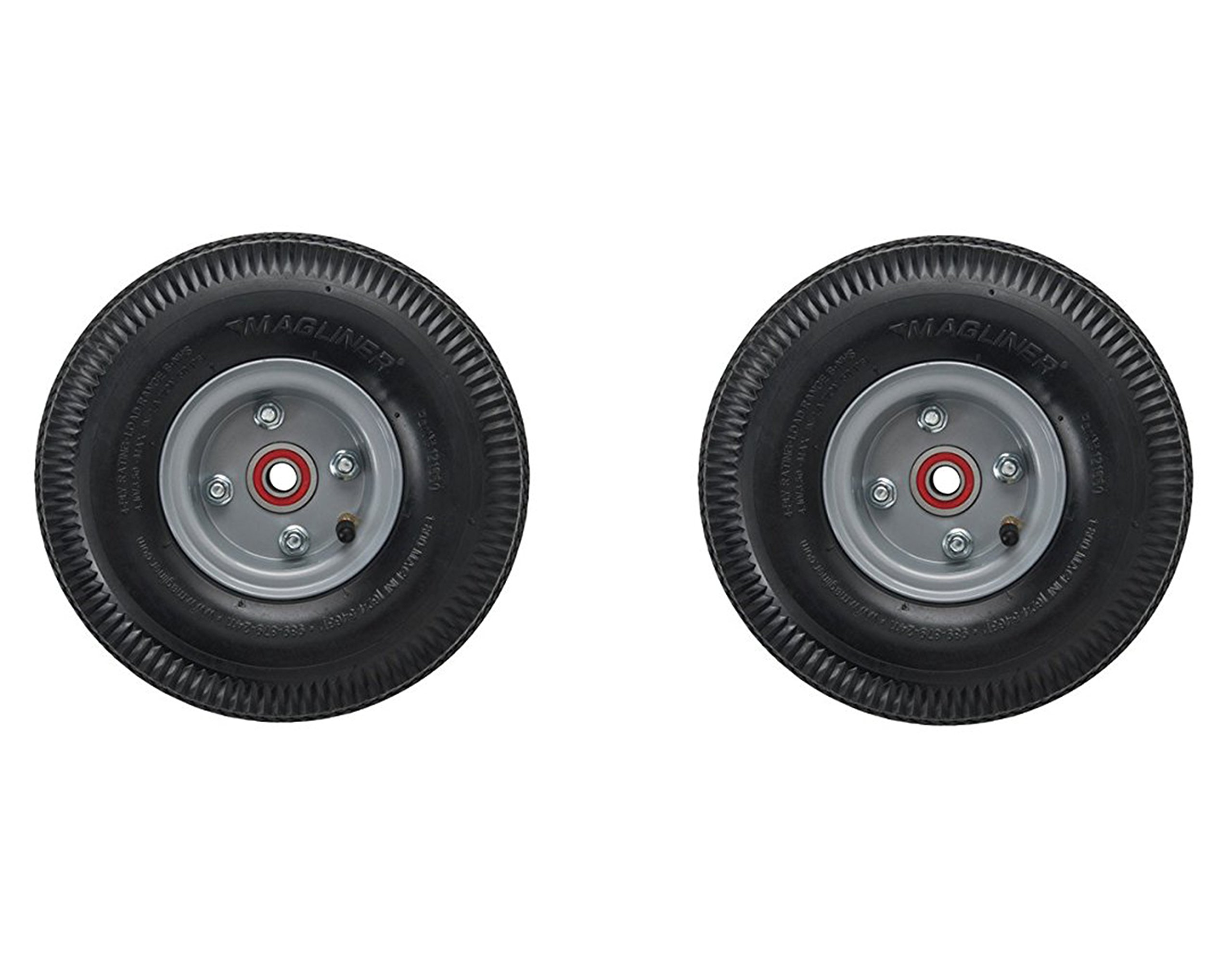 Air Tire 10'' x 3.5'' Pneumatic Wheel For Magliner Hand Truck 121060 (2 Pack)