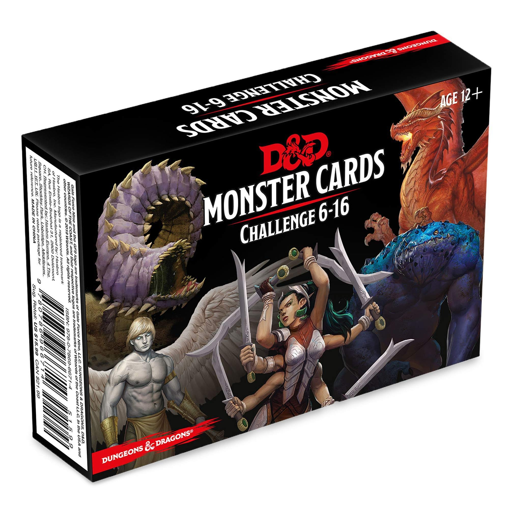 Dungeons & Dragons Spellbook Cards: Monsters 6-16 D&d Accessory ...
