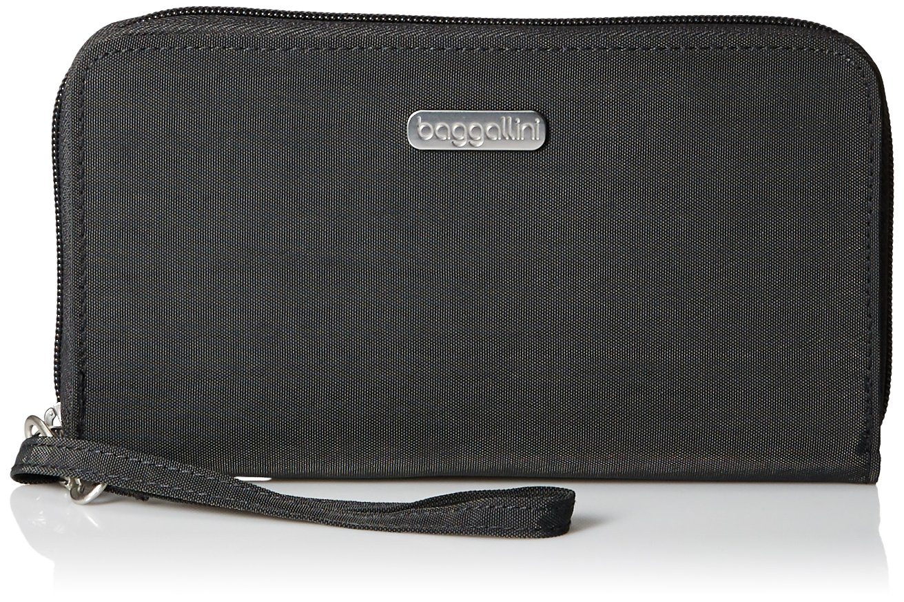 Baggallini Women's RFID Continental Wallet, Charcoal