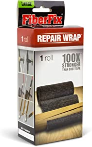 "FiberFix Repair Wrap - Permanent Waterproof Repair Tape 100x Stronger than Duct Tape 4"" (1 Roll)"