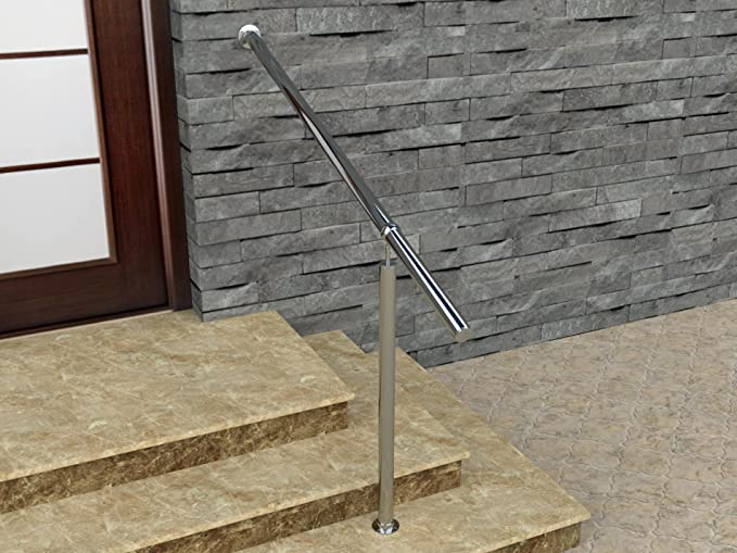Barandilla de acero inoxidable de Bayram® para interior y exterior, juego completo, para escalera de acero inoxidable: Amazon.es: Bricolaje y herramientas