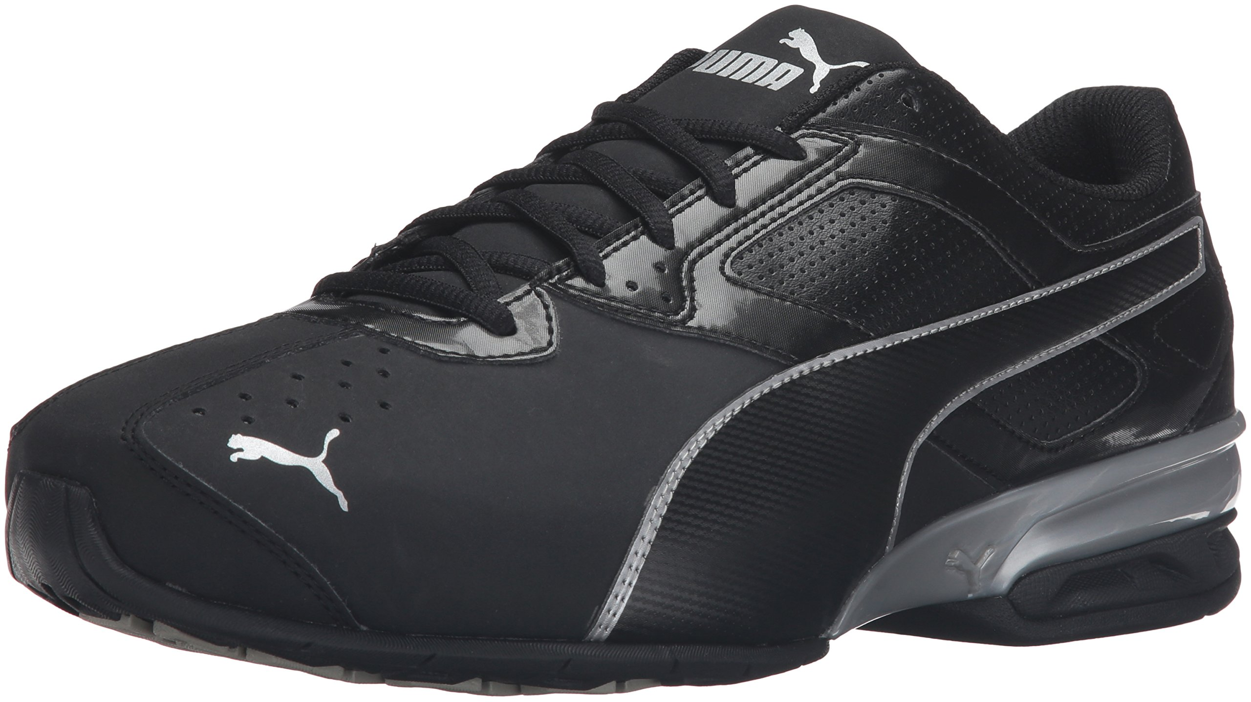 PUMA Men's Tazon 6 FM Puma Black/ Puma Silver Running Shoe - 10.5 D(M) US by PUMA