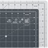 """ARTEZA Self Healing Rotary Cutting Mat, 12""""x18"""" with Grid & Non Slip Surface for Fabric, Paper, Vinyl, Plastic, Eco Friendly, Durable & Flexible, Great for Crafts, Quilting, Sewing, Scrapbooking"""