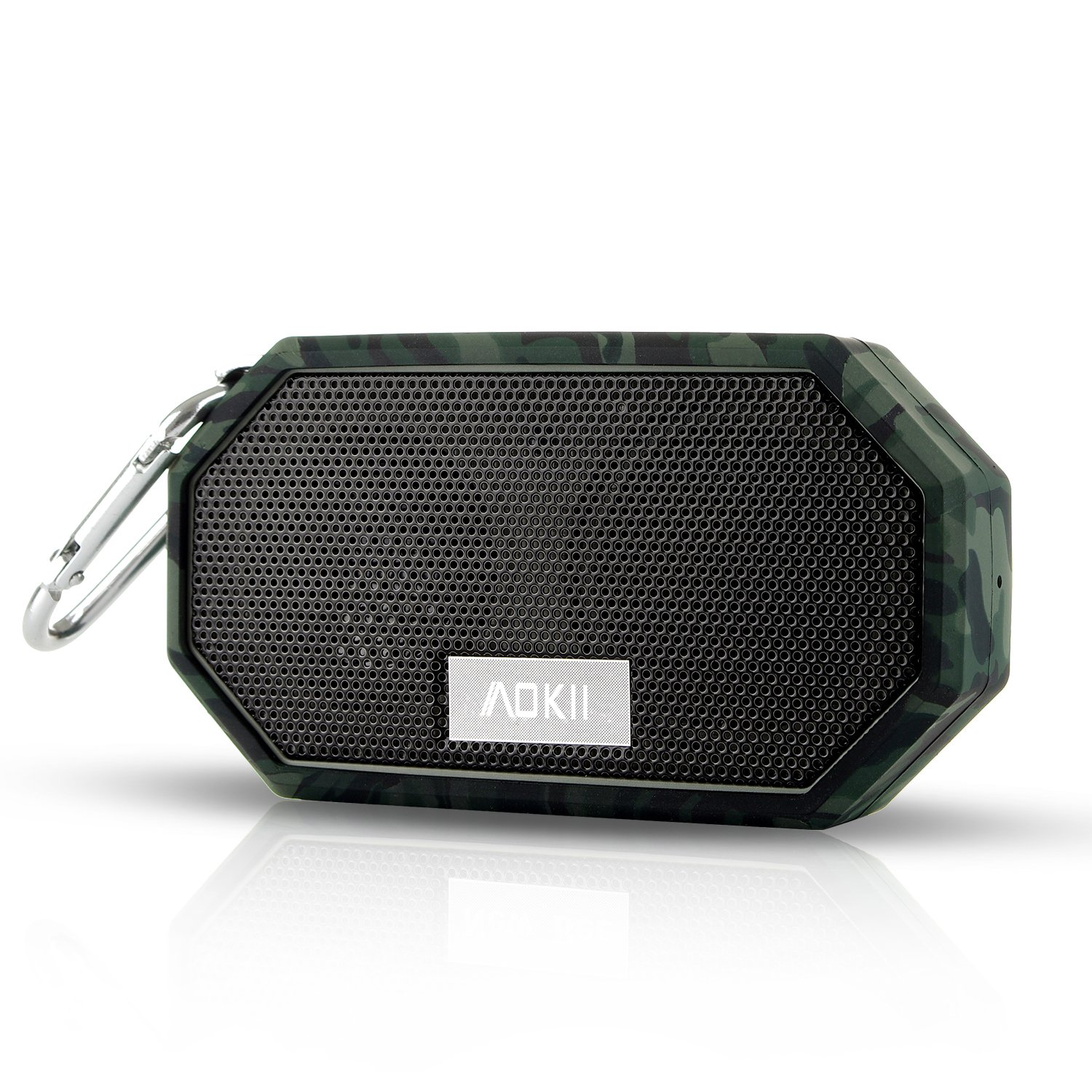 AOKII Waterproof Wireless Speakers,Unbreak waterproof Shockproof Bluetooth Stereo Speakers,outdoor Speakers for Climbing,Cycling, Hiking(Camouflage)