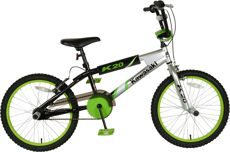 Kawasaki BMX Bicicleta para niños, Ruedas de 20 Pulgadas, Marco de ...