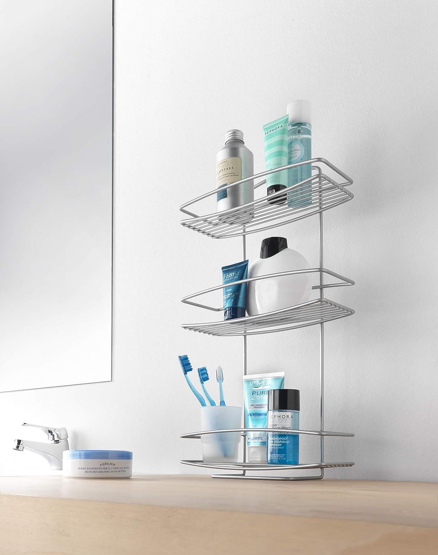 Metaltex Estante baño 1 Piso, Gris Metalizado: Amazon.es: Hogar