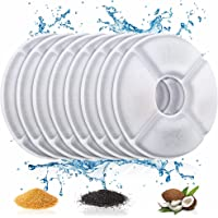 ITidyHome Pet Water Fountain Replacement Filter 8 Pack Premium Cotton Activated Carbon Replacement Water Fountain Filter…