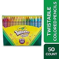 Crayola Twistables Colored Pencils Coloring Set, Kids Indoor Activities At Home,...