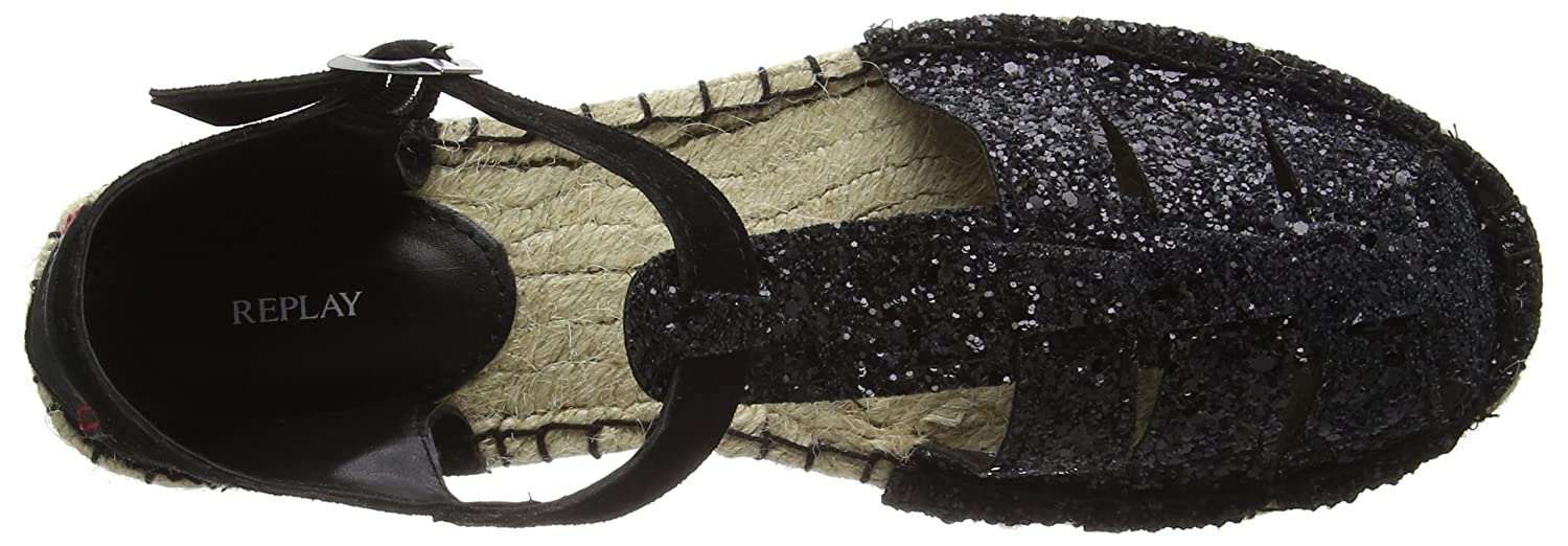 Replay Nevie Black Damen Espadrilles Schwarz (Black Black Nevie 562) 9be5c1
