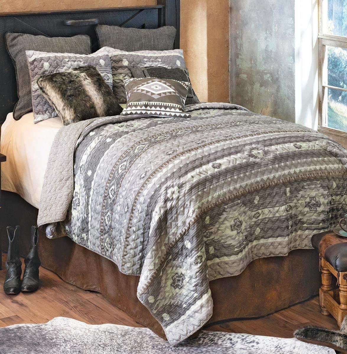 BLACK FOREST DECOR Canyon Slate Quilt Set - Queen