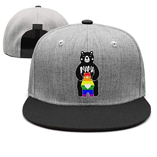 8b478f16 Black Bear Gay Pride Rainbow Unisex Casual All Cotton Baseball Cap Fitted  Hip Hop Snapback Hats at Amazon Men's Clothing store: