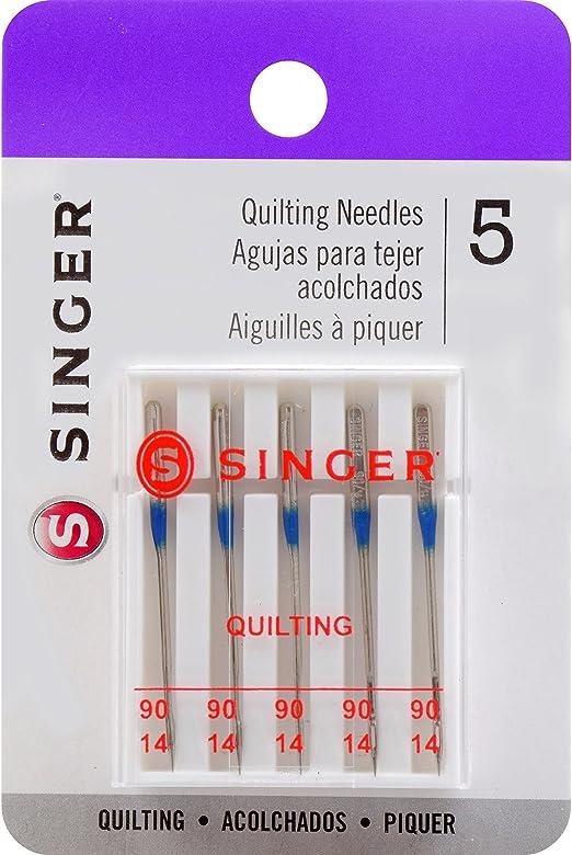 90//14 Singer tama/ño Universal Agujas de m/áquina de acolchar Size 90