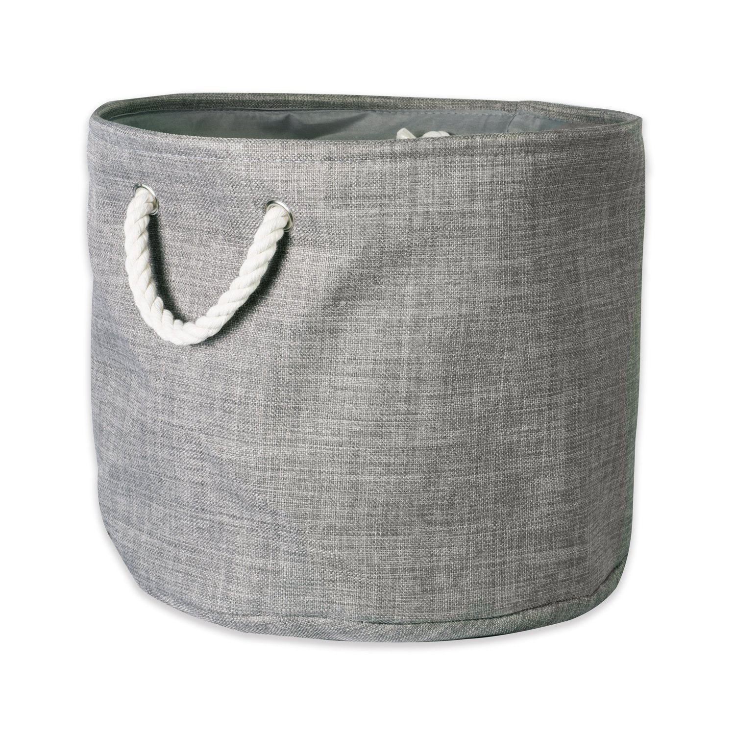 DII, CAMZ37081 Collapsible Variegated Polyester Storage Bin, Large, Gray