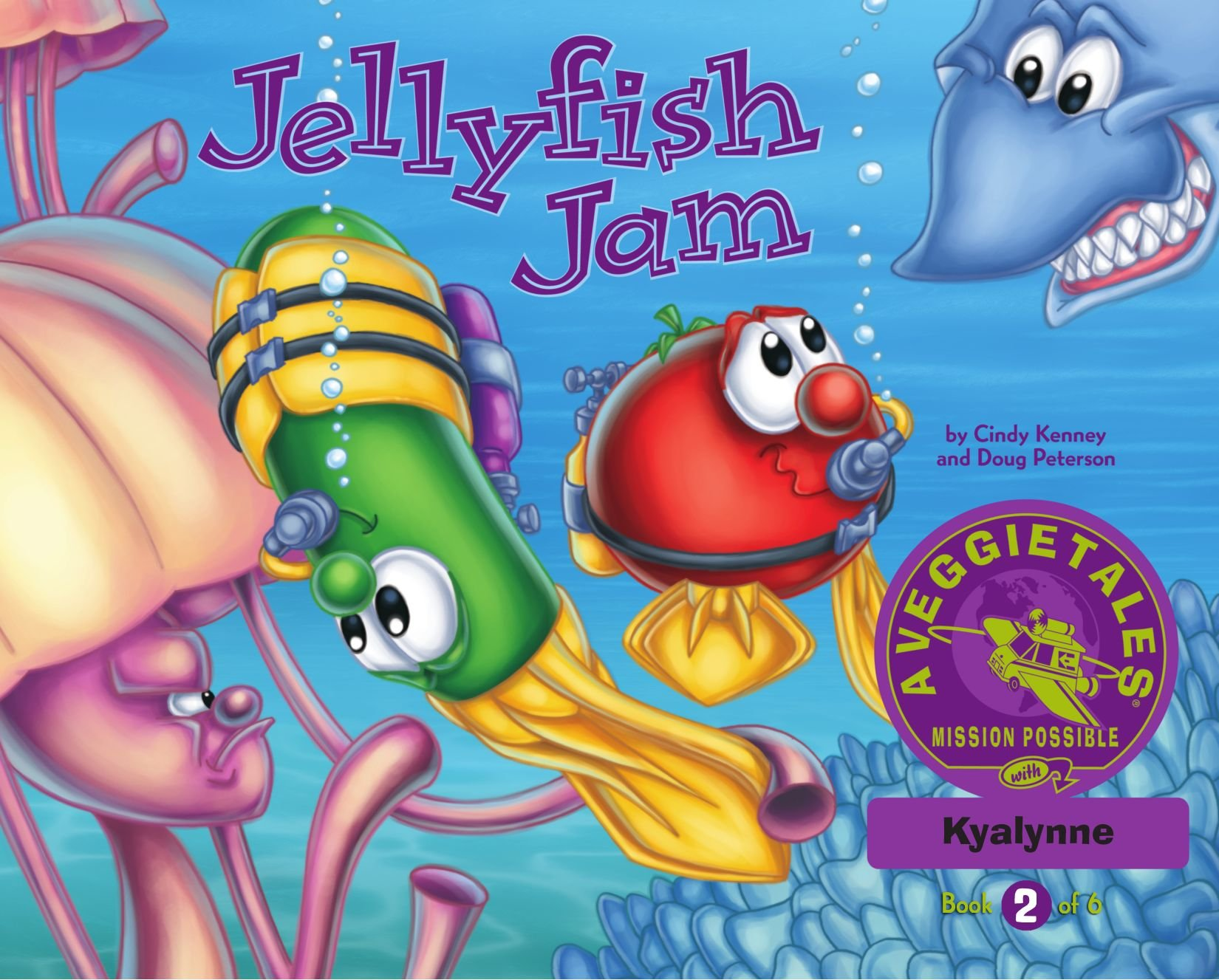 Download Jellyfish Jam - VeggieTales Mission Possible Adventure Series #2: Personalized for Kyalynne (Girl) pdf