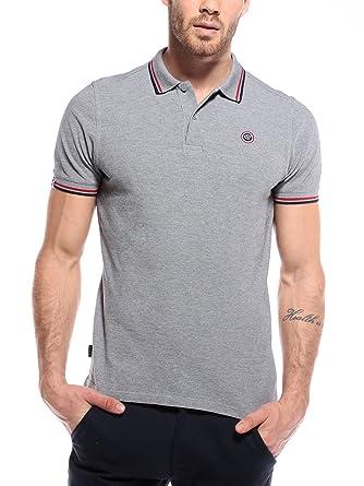 WOLDO Athletic Poloshirt Herren Polohemd Polo Hemd Shirt Kurzarm (L, grau) 852c2a825c