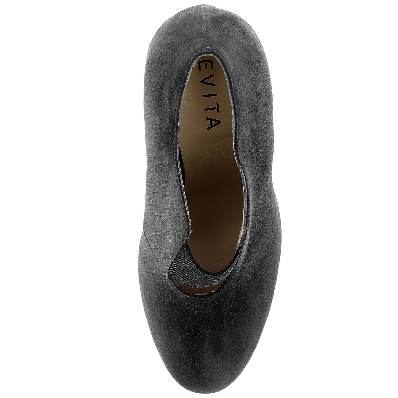 73d4a85480f2 Evita Shoes Eleonora Damen Ankle-Boot Rauleder  Amazon.de  Schuhe    Handtaschen