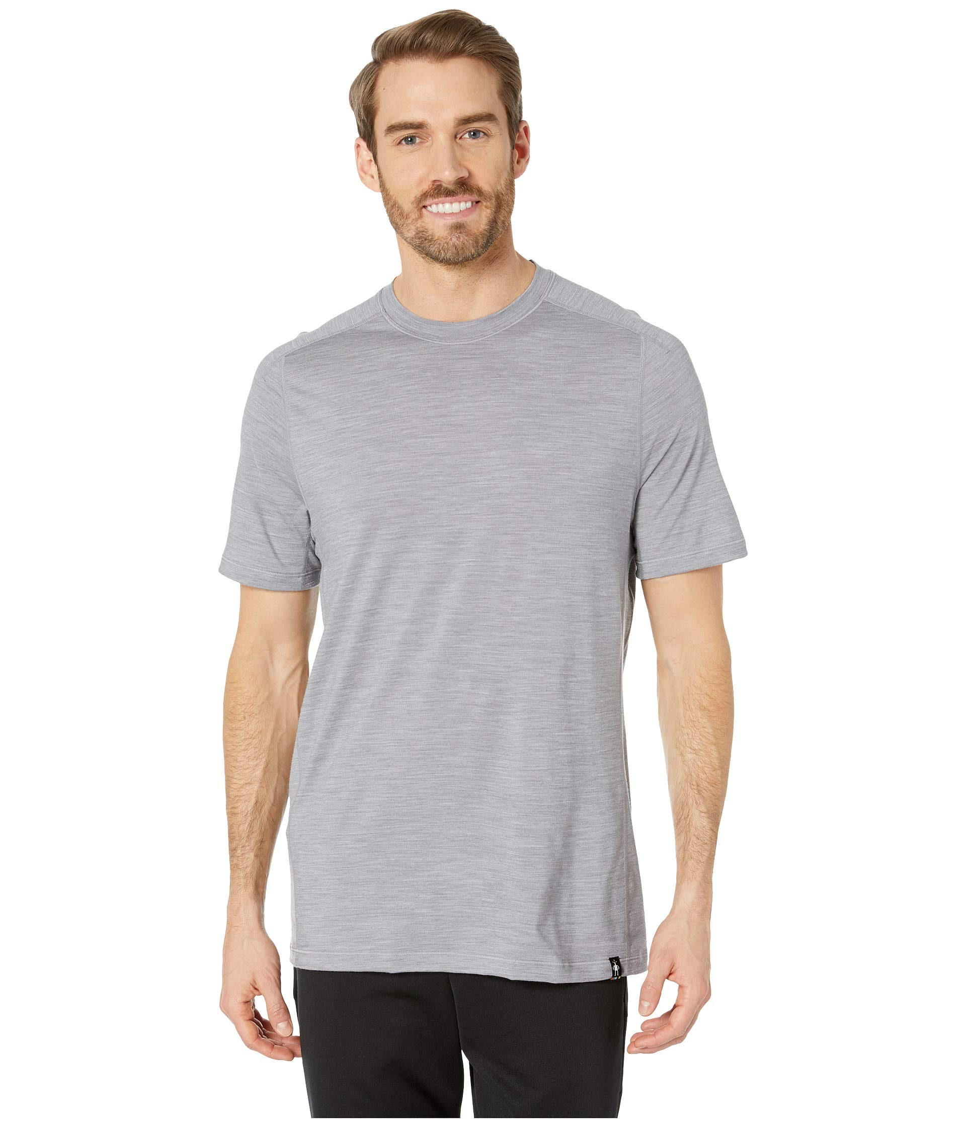 SmartWool Men's Merino Sport 150 Tech Tee Light Gray Heather Large