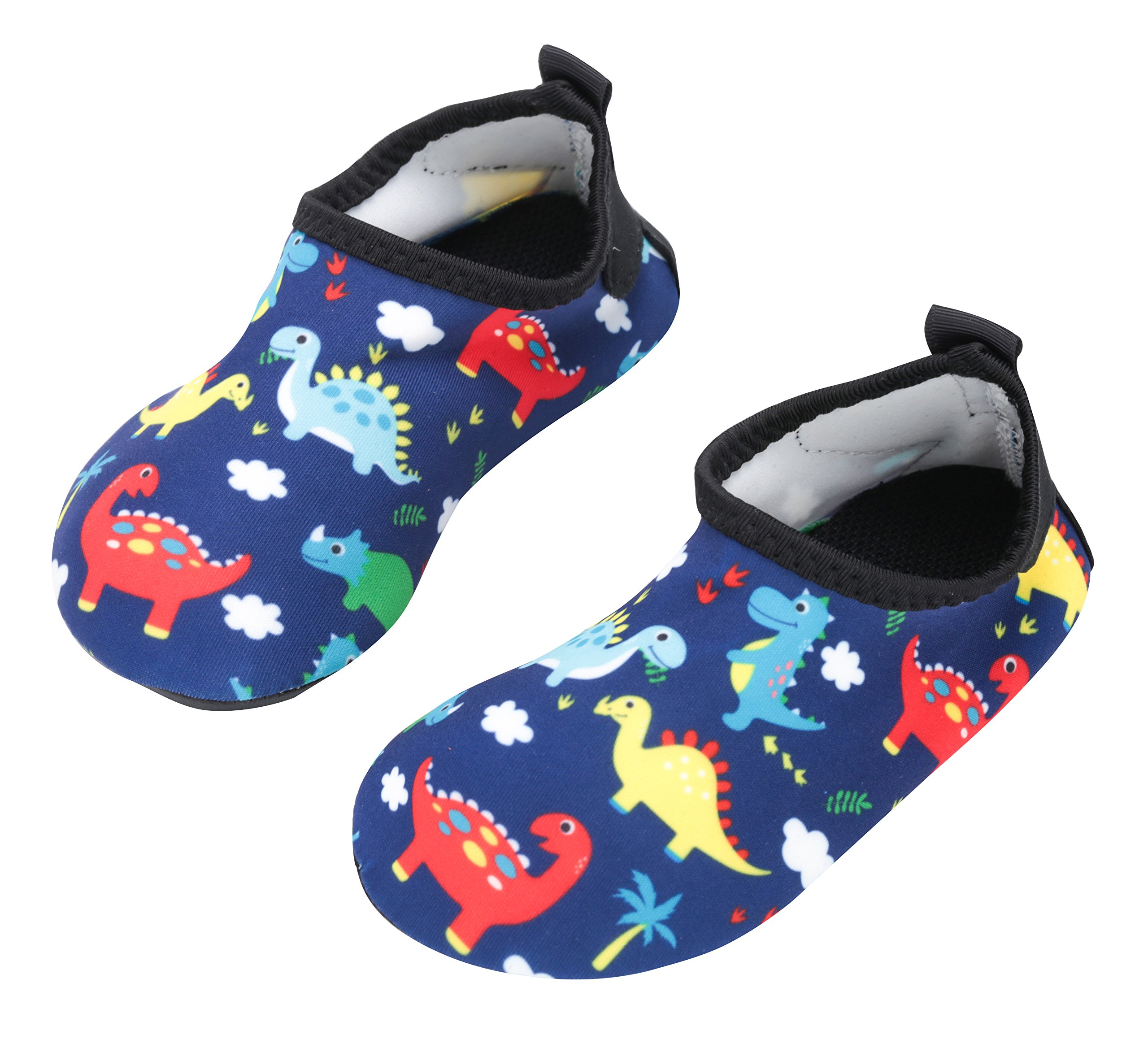 Toddler Boys Water Shoes Babys Skin Swim Shoes Child Quick Drying Barefoot Aqua Socks for Girls Pool Beach Lightweight Dinosaur Summer HDKL 26-27