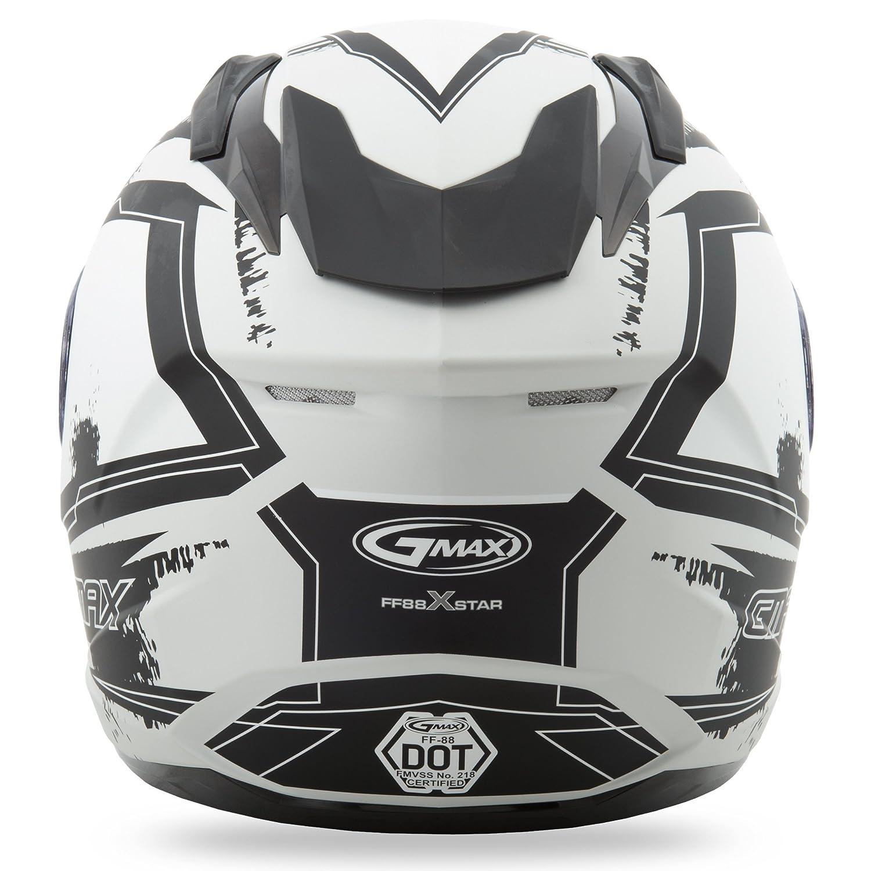 White//White Large GMAX FF88 X-Star Mens Full Face Street Motorcycle Helmet