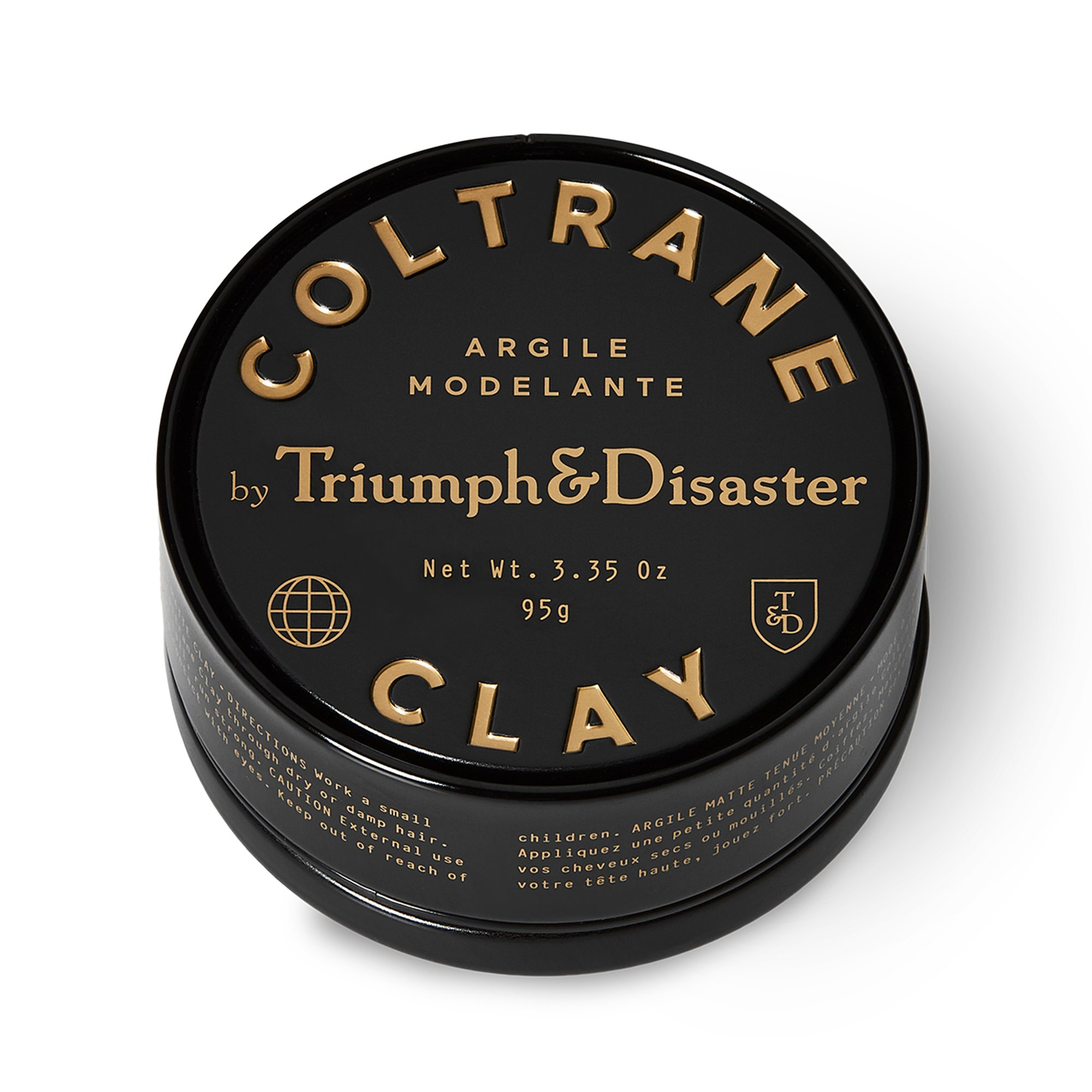 Triumph & Disaster Coltrane Clay 3.35oz - Matte Medium Hold Hair Styling Clay made with Natural White Clay Beeswax and Pracaxi Oil by TRIUMPH & DISASTER