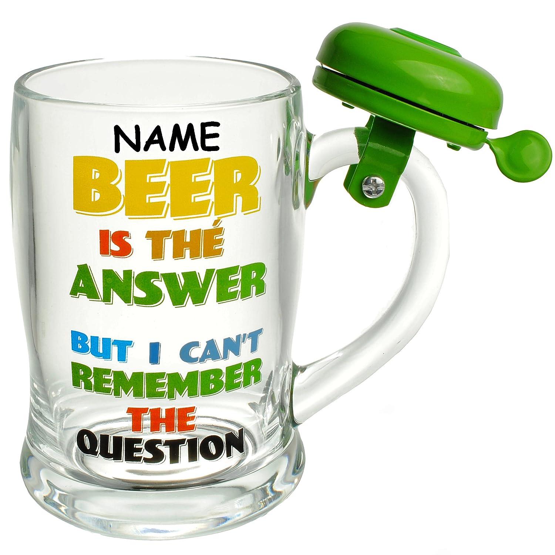 Alles Meinede Gmbh 1 Stück Bierkrug Mit Klingel Glas