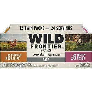Nutro Core Wet Cat 10168970 Wild Frontier Paté Variety Wet Cat Food, 2.6 Oz,