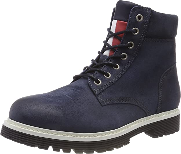 TALLA 42 EU. Tommy Hilfiger Iconic Tommy Jeans Suede Boot, Botas Militar para Hombre