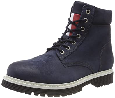 720240654 Tommy Jeans Men s Iconic Suede Combat Boots  Amazon.co.uk  Shoes   Bags