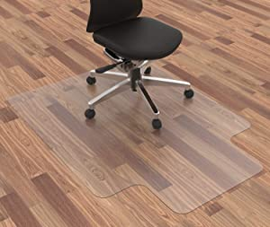 "Homek Chair Mat for Hardwood Floor, 48""x 36"" Office Chair Mat, Floor Mat for Office Chair, Clear Desk Chair Mat for Computer Desk"