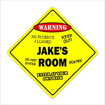 Jake s Room Sign Crossing Zone Xing  c981c0c1b