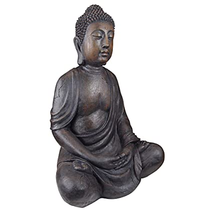 Design Toscano Meditative Buddha Of The Grand Temple Large Sized Garden  Statue