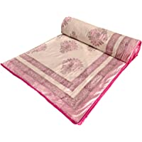 BLOCKS OF INDIA 100% Cotton Dohar King Size Reversible Hand Block Printed Malmal Summer Dohar