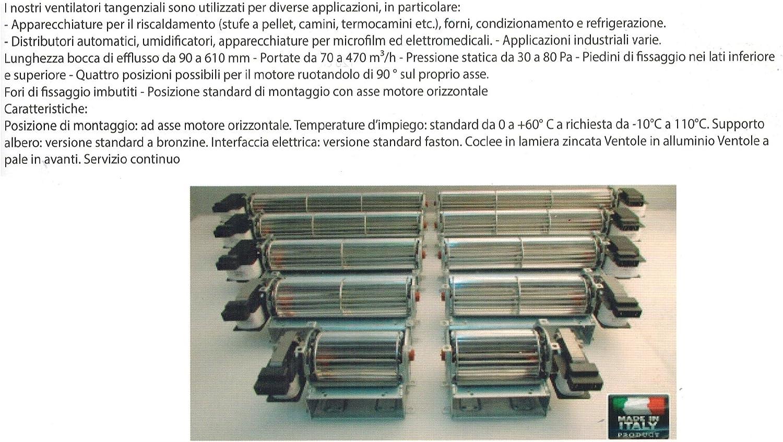 ventilatote tangencial Motor Derecho 60ø: Amazon.es: Hogar